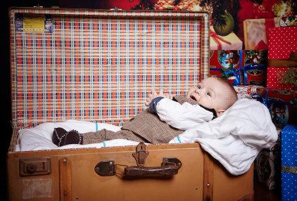 детска коледна фото сесия